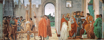 XVI=Disputation with Simon Magus and Crucifixion of St Peter, Lippi