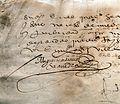 Firma de Miguel de Cervantes (detalle) 2 (26088528913).jpg