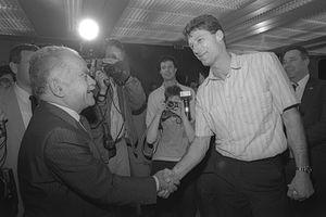Miki Berkovich - P.M. Shamir and Mickey Berkowitz, 1987