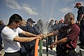 Flickr - Official U.S. Navy Imagery - Sailors test their pipe-patching skills during damage control Olympics..jpg