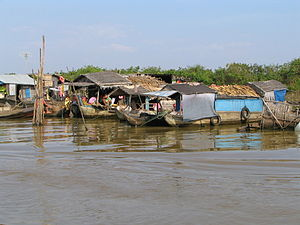 Floating village, Cambodia