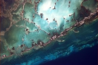 Florida Keys - Lower Matecumbe Key to Key Largo, seen from the International Space Station