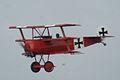 Fokker Dr.I Manfred Richthofen Pass two 03 Dawn Patrol NMUSAF 26Sept09 (14597966054).jpg