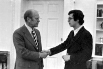 Paul Manafort - Manafort greeting President Gerald Ford, 1976