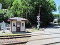 Forest Street crossing tender shanty, June 2017.JPG