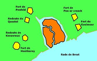 Fort Montbarey - The belt of forts protecting Brest land-side