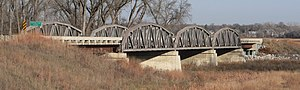 National Register of Historic Places listings in Franklin County, Nebraska - Image: Franklin Bridge (Nebraska) from SE
