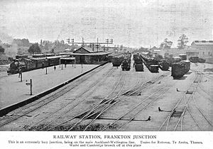 Hamilton Railway Station, New Zealand - Frankton Junction about 1915