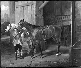 Pferde und Stallbursche