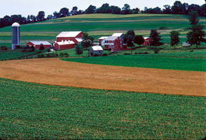A farm in Frederick County, Maryland