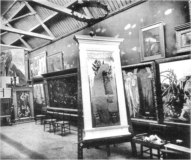Burne-Jones's studio, 1887