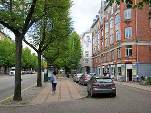 Frederiksberg Allé - parking lanes