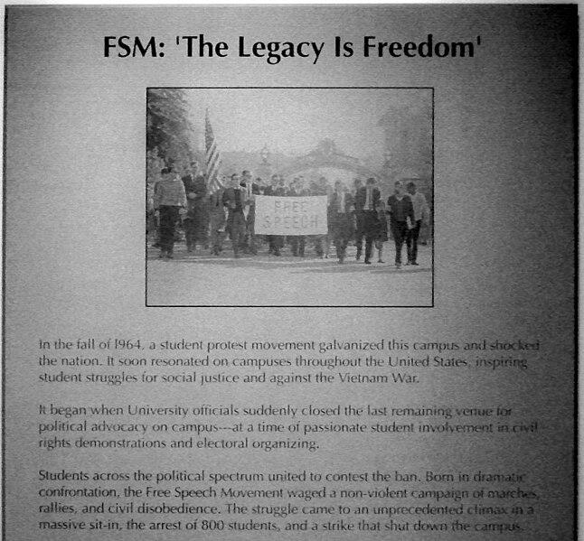 Memorial to the Free Speech Movement in Berkeley
