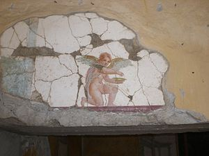 Fresco of angel in Villa San Marco of Stabiae.jpg