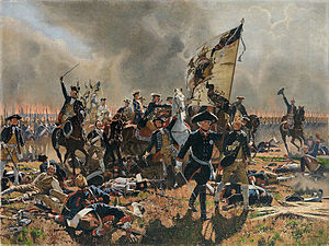 Battle of Zorndorf - Image: Friedrich II in der Schlacht bei Zorndorf Copy after Carl Röchling
