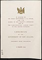 Front Cover of Luncheon Booklet for The Rt. Hon. CR Attlee, O.M., C.M., Leader of Her Majesty's Opposition and of the Parliamentary Labour Party in the United Kingdom, 15 September 1954 01.jpg