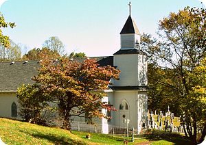 National Register of Historic Places listings in Lewis County, West Virginia - Image: Front view of St Bernard church