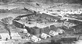 Artists Rendition of Fort Supply, 1869