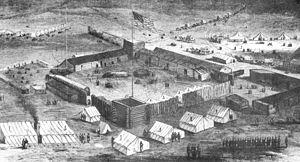Fort Supply - Image: Fsstockade