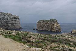 Fungus Rock in der Dwejra Bay