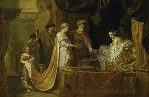 Les fêtes de Polymnie - Antiochus and Stratonice, Gerard de Lairesse, 1671-1675, Rijksmuseum Twenthe