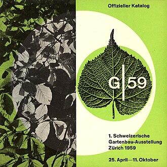G59 – 1st Swiss Horticulture Exhibition - The G59 brochure, edited by Franz Fässler
