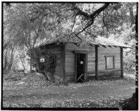 GARAGE, LOOKING SOUTH-SOUTHWEST - Welch-Hurst, 15800 Sanborn Road, Sanborn Skyline County Park, Saratoga, Santa Clara County, CA HABS CAL,43-SARA,5-5.tif