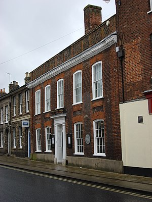 Sudbury, Suffolk - Thomas Gainsborough's house, now a public museum and gallery of his work.