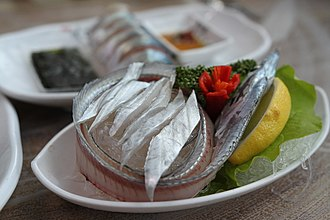 Hoe (food) - Image: Galchi hoe