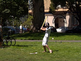 Wiffle ball - Wiffleball being played in a park
