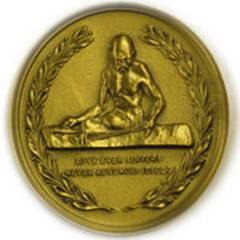 Gandhi Peace Award Medallion - front side