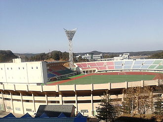 Gangwon Province, South Korea - Gangneung Stadium, the home ground of Gangwon FC