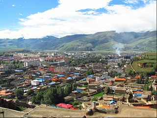 Garzê Town Township in Sichuan, China