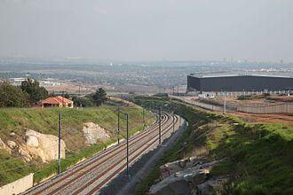Gautrain - Gautrain tracks in Midrand
