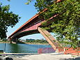 Gazela Bridge, Belgrade look under.jpg