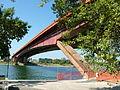 Gazela Bridge, Belgrade look under.jpg