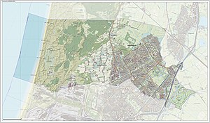 Heemskerk - Dutch Topographic map of Heemskerk, June 2015