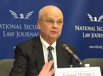 Michael Hayden (general) - Hayden speaking at the National Security Law Journal symposium on cybersecurity April 2, 2013, in Washington, D.C.