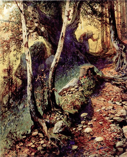 File:Georg Janny - Hunting Mushrooms in the Old Forest.jpg