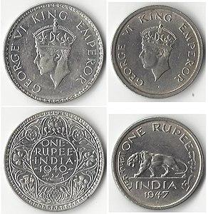 GeorgeVIKingEmperorIndia1940and1947