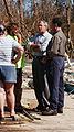 George Bush and Michael Brown speak to victims of Hurricane Ivan.jpg