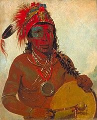 Tóh-to-wah-kón-da-pee, Blue Medicine, a Medicine Man of the Ting-ta-to-ah Band