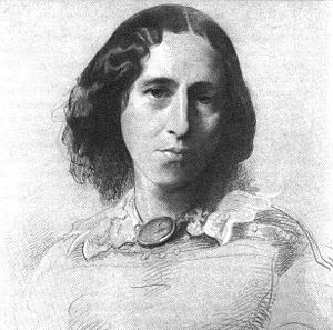 George Eliot - Portrait of George Eliot by Samuel Laurence, c. 1860