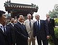 George H. W. Bush and George W. Bush with Hu Jintao.jpg