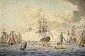 George III reviewing the Fleet at Spithead, 22 June 1773, depicting HMS 'Royal Oak' RMG D0439.jpg