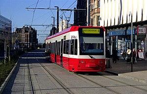 West London Tram - Tramlink in Croydon in October 1999
