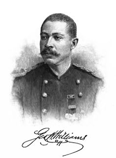 George Washington Williams American Civil War soldier, Christian minister, politician, lawyer, journalist, and writer