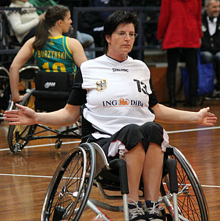 German wheelchair basketball player