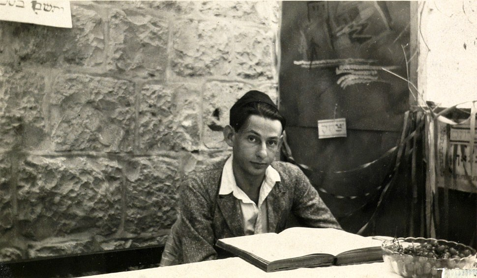 Gershom Scholem learning the Zohar (NNL 003800553).III