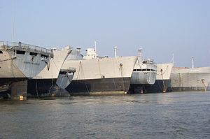 Mulberry Island - One of several rows of ships in the Ghost Fleet
